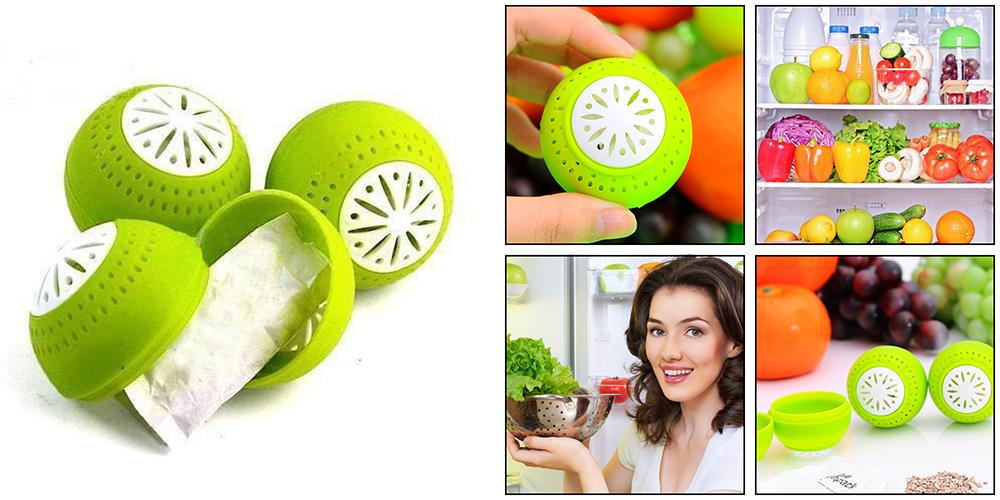 Шарики поглотитель запаха для холодильника Свежесть (Fridge Balls)